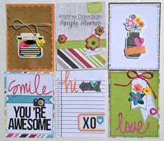 Filler Cards * Simple Stories * - Scrapbook.com - Made with Simple Stories DIY Collection.