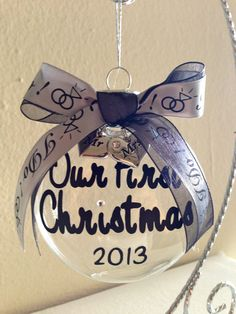 Wedding Ornament 2016 Wedding Christmas Ornaments 2016 Our First