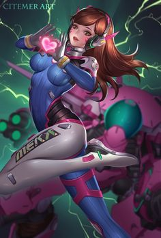 D.VA, LRY CiteMER on ArtStation at https://www.artstation.com/artwork/DEOgn