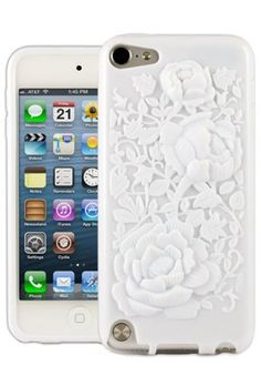 HHI 3D Rose Graphic Skin Case for iPod Touch 5th Generation - White (Package include a HandHelditems Sketch Stylus Pen) by Handhelditems, http://www.amazon.com/dp/B009S13UJU/ref=cm_sw_r_pi_dp_K0f2rb0NQR8AV