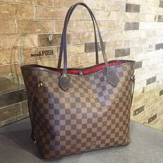 Louis Vuitton Damier Ebene Neverfull MM Bag just in!! Call us at 813-258-8800 if you would like to purchase before it goes online! #louisvuitton #lvneverfull #damierebene #getitquick #moshposhfinds #mymoshposh #designerhandbags #designerconsignment
