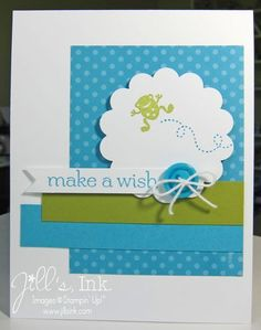 Stampin' Up! CAS Card  by Jill's Ink: Moving Forward Birthday Card