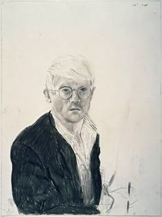 """David Hockney, Self-Portrait, 1983. """"And then I went round the corner and there's a Van Gogh portrait, and you just think, well, this is another level. A higher level, actually. I love the Sargent, but it's not the level of Van Gogh."""""""