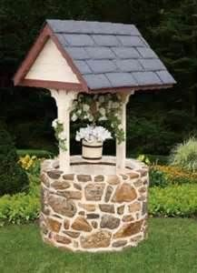 Image detail for -shopping home garden decor stone base wishing well