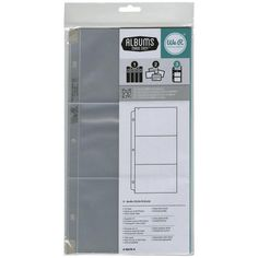 """We R Memory Keepers - Albums Made Easy - Ring Photo Sleeve Protectors 6""""X12"""" 10/Pkg - (3) 4""""X6"""" Pockets"""