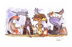 Cats  Cat Art  Funny Cats Illustration by tylersworkshop on Etsy, $12.00 @Haley Thompson