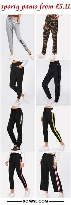 sporty pants from £5.11