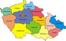 kraje české republiky - Hledat Googlem Czech Republic, Bowser, Montessori, Knowledge, Teaching, Education, School, Creative, Kids