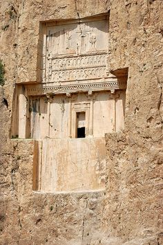 Iran Naqsh-e Rostam, Tomb of Darius the Great, Iran by youngrobv Ancient Mysteries, Ancient Ruins, Ancient Artifacts, Ancient Egypt, Ancient History, Persian Architecture, Cultural Architecture, Ancient Architecture, Art And Architecture
