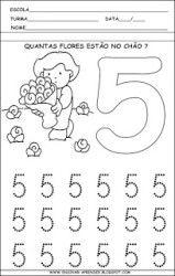 Vzdělávací činnosti pro vypisování čísel od 1 do 5 Preschool Learning Activities, Preschool At Home, Preschool Lessons, Preschool Worksheets, Kids Learning, Kids Study, Learning Numbers, Math For Kids, Busy Book