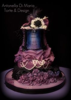 burlesque Halloween birthday cake By ninettaduci on CakeCentral.com