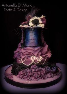 burlesque Halloween birthday cake By ninettaduci on CakeCentral.com