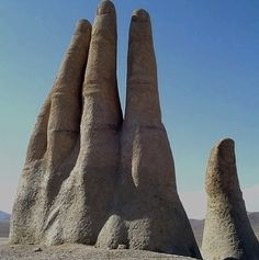 La mano del desierto.Antofagasta.(Chile) Right outside my parents (and by extension) my hometown.