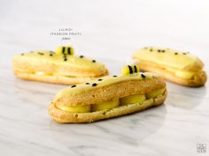 lilikoi aka passion fruit pastry cream fills these homemade eclair pastries; topped with a lilikoi glaze