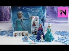 Frozen Elsa Anna MagiClip Glitter Glider Princess Dolls Olaf Disney Surprise Eggs Huevos Sorpresa - YouTube