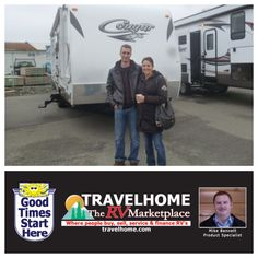 Congratulations to Geoffrey & Marit on the purchase of their Cougar 26BH #traveltrailer from Mike! #Travel #cougarrv #camping #Travelhome