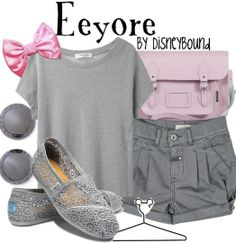 """""""Eeyore"""" by lalakay Disney Bound Outfits Casual, Disney Themed Outfits, Disney Dresses, Casual Outfits, Cute Outfits, Disney Clothes, Amazing Outfits, Vacation Outfits, Lizzie Hearts"""