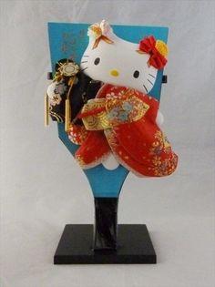 Sanrio Hello Kitty Gorgeous Hagoita Cherry blossom and Japanese hand drum Gift