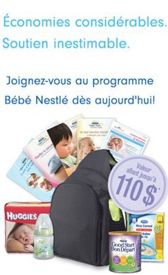 110 $ de produits bébé Nestlé gratuit.   http://rienquedugratuit.ca/echantillon-gratuit/produits-bebe-nestle-gratuit/