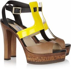 Jimmy Choo ~ Samos Patent-Detailed Leather Sandals