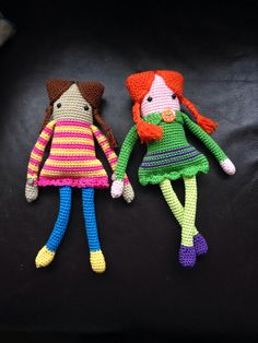Amigurumi crochet dolls, in cotton yarn