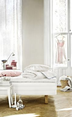 Stella Nicolaison for Ikea, cost efficient alternative to all white.