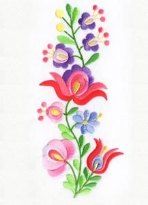Simple Hand Embroidery Patterns, Embroidery Flowers Pattern, Machine Embroidery Applique, Hand Embroidery Designs, Embroidery Stitches, Mexican Embroidery, Hungarian Embroidery, Folk Art Flowers, Flower Art