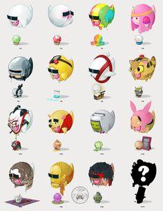 Boo-series – Illustrations Mashup par Andrew Wilson