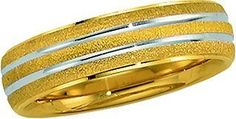 14K Gold Two Tone Men's Wedding Band.    http://www.thediamondstore.com/products/men's-wedding-rings/14k-gold-two-tone-mens-wedding-band-%7C-5635/7-555