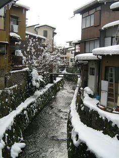 Overlooking a stream in Hida Takayama