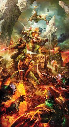 battle catachan dark_eldar epic flag flamer imperial_guard imperium lasgun