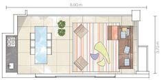 Apartamento Itaim 1 / Fernando Piva #varanda #varandagourmet #plan