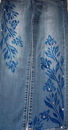 HOT Jeans Stencil #6, Clothing Stencil-Make a fashion statement