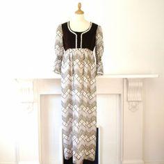 1960s daisy print maxi dress by Marion Donaldson    £60