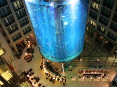 World's Beautiful Landscapes.: The largest cylindrical aquarium in the world   Be...
