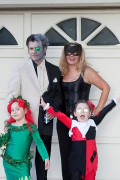 Pin for Later: The Family That Dresses Up Together, Stays Together: 36 Family Costume Ideas Batman's Nemeses Who says you have to be the good guys on Halloween?