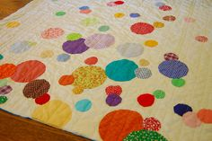 Confetti Quilt by Lady Harvatine, via Flickr.  Perfect for trying out the circle  die on my Accuquilt die cutter! thanks!