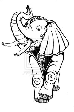 FINALLY! Found the perfect elephant posing the way I want mine!! Now to decide if I want it to be a circus elephant or a sugar skull elephant... or both... fuck