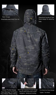 4ffa1b25cbfe Military Tactical Technical Outdoor Jacket For Men Waterproof Windproof  Hooded Hiking Jacket Camouflage Clothing - 6 Colors