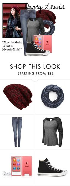 """""""Darcy Lewis"""" by sallyrose2 ❤ liked on Polyvore featuring King & Fifth Supply Co., Paige Denim, LE3NO, Converse and thor"""