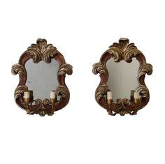 $600.00 Pair of Vintage Florentine Mirrored Sconces