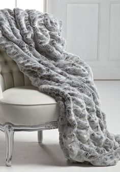 1a02932bc4e6 Frosted Grey Mink Faux Fur Couture Throw Blankets  fiftyshadesofgrey   fiftyshadesofgreyfurniture Bedroom Inspo