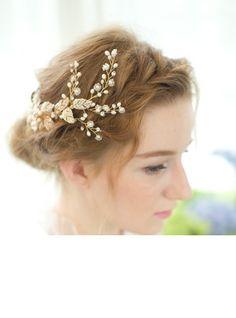 Combs & Barrettes Wedding Carnival Rhinestone Freshwater Pearl 9.06