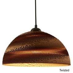 Semi-sphere cardboard lamp made from recycled cardboard. This unique pendant lampshade is made by hand in Turkey and it's completely eco-friendly product. Ceiling Lamp, Ceiling Lights, Pendant Lamp, Lighting Design, Modern, Home Decor, Products, Light Design, Trendy Tree