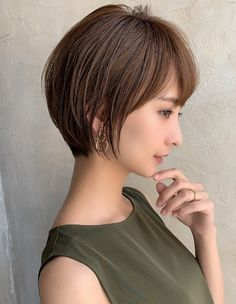 Medium Hair Styles, Short Hair Styles, Short Layers, Japanese Beauty, Short Bob Hairstyles, Asian Girl, Hair Cuts, Hair Color, Hair Beauty