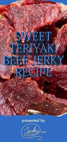 Sweet Teriyaki Beef Jerky Recipe, Beef Jerky Marinade, Smoked Beef Jerky, Sweet Deer Jerky Recipe, Beef Jerky Seasoning, Moose Jerky Recipe, Simple Beef Jerky Recipe, Making Beef Jerky, Homemade Beef Jerky