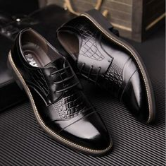 Top-Quality-Mens-Casual-Shoes-Dress-Formal-Business-Oxfords-Leather-shoes