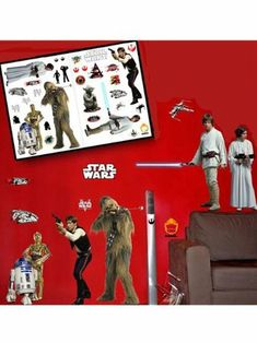 * Official Star Wars Merchandise * Transform your room in minutes with these 33 great Rebels stickers! Star Wars Rebellen, Disney Star Wars, Quirky Gifts, Chewbacca, Stickers, Wall Sticker, Baseball Cards, Stars, Movie Posters