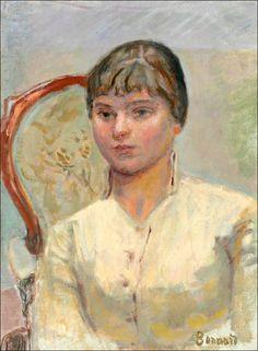 Pierre Bonnard (1867-1947) Jeune femme au fauteuil (étude)