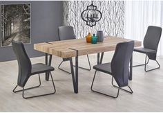 New YOHANN Vintage Industrial San Remo Oak Top and Metal Legs Dining Table Chairs Dining Furniture Sets. Fashion is a popular style Dining Furniture Sets, Furniture Styles, Furniture Design, Metal Leg Dining Table, Dining Table Chairs, Dining Room, Rustic Industrial, Industrial Furniture, Apartment Design